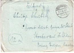 5150  BRIEF    SS  FELDPOST  GISPERSLEBEN --STOCKERAU  1944 - Brieven En Documenten