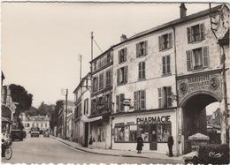 CPSM Saint Ouen L'Aumône , Avenue Du Général De Gaulle , Commerces , Devanture Pharmacie , Café , Enseigne Déménagements - Saint Ouen L'Aumone