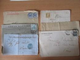 6 Façades De Lettres Anciennes Diverses Dont Napoléon Non-dentelé, Sage, Autriche, Allemagne, Cape Of Good Hope - Sellos