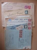 Guerre 39-45 - Lot De 15 Enveloppes Recommandées Circulées En 1940 Et 1945 Dont Jugements - Marcophilie (Lettres)