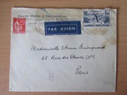 Corse - Enveloppe Circulée Entre Ajaccio Et Paris - Timbre Chamonix 1f50 YT N°334 + Timbre Paix 50c - Flamme Pub - 1937 - Marcophilie (Lettres)