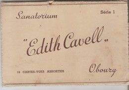 16 Cartes OBOURG SANATORIUM EDITH CAVELL - Mons