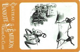 Carte Plastifiée Rigide Du Chateau Laniote - Saint Emilion - Rébus Et Conseils De Dégustation - Modèle 5 - Otras Colecciones