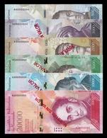 Venezuela Set 500 1000 2000 5000 10000 20000 Bolívares 2016 Pick 94-99 Specimen SC UNC - Venezuela