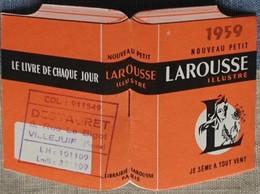 Petit Calendrier Poche 1959 Petit  Larousse Illustré - Librairie - Villejuif - Kalenders