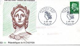 Paris 1969 Marianne De H Cheffer - FDC