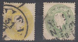 AUTRICHE Yvert N° 17 + 18 ; Michel N° 17 + 18;  Année 1861, Franz Joseph, 2K + 3Kr - 1850-1918 Imperium