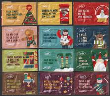 Sidul, Portugal 2019 - Feliz Natal/ Joyeux Noel/ Merry Christmas // Série Complète 12 Sachets Vides - Sucres