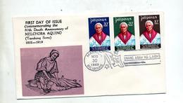 Lettre  Fdc 1969 Aquino - Filippijnen