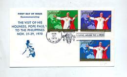 Lettre  Fdc 1970 Voyage Pape - Filippijnen