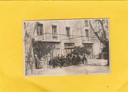 CARTE-PHOTO 84 CAROMB DEVANTURE CAFE MUS LE PORTAIL  Avant LA MIRANDE - Frankreich