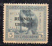 Y2245 - RUANDA URUNDI 1924 : Yvert N. 60 *  Linguellato  (2380A) - Ruanda-Urundi