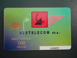 ALBANIA   USED PHONECARDS  ALBTELECOM - Albanie