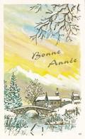 Petite Carte (8 Cm X 12,5 Cm) - Bonne Année - Paysage De Neige - Village (N°117) - Nouvel An