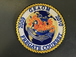 Marine Nationale - Frégate Courbet - GEAOM 2009 - 20010 - Scudetti In Tela