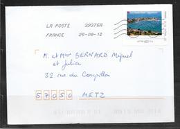 1804004 - PORT NOVOLO MORBIHAN SUR LETTRE OBLITEREE DU 25/08/12 POUR METZ - France