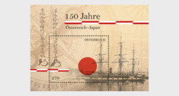 AUSTRIA, 2019, MNH,  150 YEARS OF RELATIONS WITH JAPAN, SHIPS, S/SHEET - Barcos