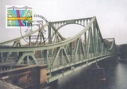 Germany 1998 Maximum Card: Architecture Bridges; Glienicker Bridge Berlin - Bridges