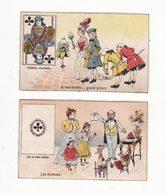 Lot De 2 Chromos  Sans Pub   Cartes à Jouer        10.4 X 6.4 Cm - Trade Cards