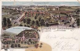 LUXEMBOURG - GRAND DUCHÉ DU LUXEMBOURG - LITHOGRAPHIE DE 1910. - Luxemburgo - Ciudad
