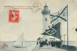 44 - SAINT NAZAIRE - Grande Semaine Maritime LMF 1908 - Jury Des Régates Sur La Vieille Jetée - Drapeaux Régionaux - Saint Nazaire