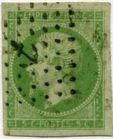 !!! PRIX FIXE : COLONIES GENERALES, 5C EMPIRE N°8 OBLITÉRATION ANCRE. RR, SIGNÉ CALVES - Napoléon III