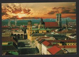 -Allemagne - München - Munich -Stadtpanorama Mit Alpenkette, Vue Aérienne Des églises Et Cathédrale , Plusieurs Clochers - Muenchen