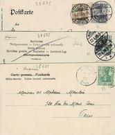 TP N° 81 à 83 Sur 3 Cartes Postales Postées à Colmar, Markich Et Andlau - Alsace-Lorraine