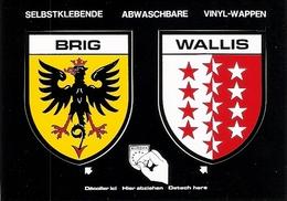 Ecussons Adhésifs De La Commune De BRIG ( Brige ) Et Du Canton Du Valais ( Wallis ) - VS Valais