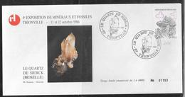 1912017 - N° 2430 SUR LETTRE DE THIONVILLE DU 11/10/86 - LE QUARTZ DE SIERCK - Marcophilie (Lettres)