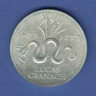 DDR 20 Mark Gedenkmünze 1972 Lucas Cranach Stempelglanz Stg  - [ 6] 1949-1990: DDR