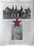 1905 LE PRINCE VICTOR=NAPOLÉON ET LA PRINCESSE CLÉMENTINE DE BELGIQUE - LA VIE ILLUSTRÉE - 1900 - 1949