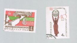 URSS - SG 3041.3044  - 1964 40^ ANNIVERSARY OF 3 SOVIET REPUBLICS   - USED° - 1923-1991 USSR