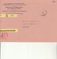 L 1 - Enveloppe  En Recommandée METZ ARMEES - Marcofilie (Brieven)
