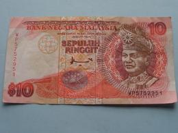 10 - SEPULUH RINGGIT ( WP5752951 ) BANK NEGARA MALAYSIA ( For Grade, Please See Photo ) ! - Maleisië