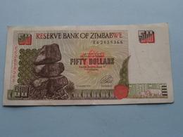 50 - FIFTY DOLLARS ( EG2858366 ) Reserve Bank Of Zimbabwe ( For Grade, Please See Photo ) ! - Zimbabwe
