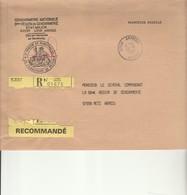 L 1 - Enveloppe  En Recommandée  LYON  ARMEES - Marcofilie (Brieven)