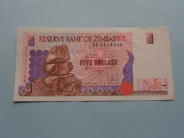 5 - FIVE DOLLARS ( BE0414408 ) Reserve Bank Of Zimbabwe ( For Grade, Please See Photo ) ! - Zimbabwe