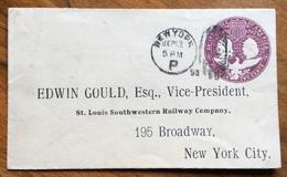 STATI UNITI  1492-1892 POSTAGE  TWO  CENT COLOMBUS - NEW YORK 12/9/1893 -EDWIN GOULD VICE PRESIDENT - 1847-99 Algemene Uitgaves