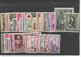 Volledig Jaargang 1939 Postfris Met Scharnier * - Bélgica