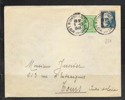 1802127 - N° 680+821 SUR LETTRE DE ROMORANTIN DU 03/12/48 POUR TOURS - 1921-1960: Modern Period