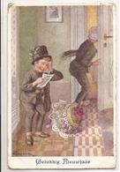 CPH 1144  OLD POSTCARD , HUMOR FANTASY , Signed HUBERT (?) - Humor