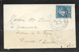 1901044 - N° 217 SUR LETTRE MIGNONETTE DE OCTEVILLE DU 13/07/27 - Marcophilie (Lettres)