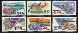 1973 Czechoslovakia MNH - Mi 2166-2171 ** MNH - Flugpost • Airmail • Poste Aérienne - PLANE , AVION - Ungebraucht