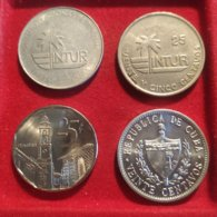 Cuba 4 Monete Diverse - Cuba