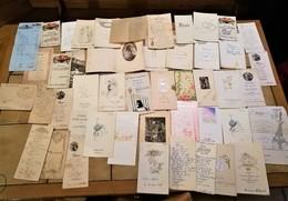 LOT DE 46 MENUS DONT CERTAINS FAIT MAIN GAUFREE TOUR EIFFEL ILLUSTRATEUR GAGNY 1913 1939 1949 VATTEVILLE-LA-RUE - Künstlerkarten