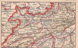Carte Postale Géographique - Soleur - Bienne - Jura - Delémont - Porrentruy - JU Jura