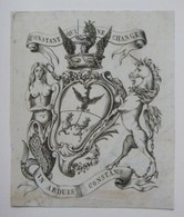 Ex-libris Héraldique XVIIIème - CONSTANT DE REBECQUE - Ex Libris