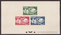 Monaco, Foglietto Speciale Non Dentellato Di Tre Valori 75^ UPU Del 1949 Nuovo **   -CK28 - Monaco