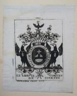 Ex-libris Héraldique XVIIIème - COURTEN - Ex-libris